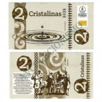 MSB008 - Moeda Social - Cristalina - C$ 2,00 - B. Pureza - Bebida Velha - RN - FE
