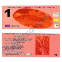 MSB017 - Moeda Social - Tintim - C$ 1,00 - 1º Lançamento - B. Lagoa de Dentro - PB - FE
