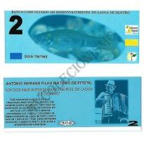 MSB018 - Moeda Social - Tintim - C$ 2,00 - 1º Lançamento - B. Lagoa de Dentro - PB - FE