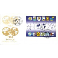 FDC326CPD - FIFA - 80 anos - Bloco - 1984