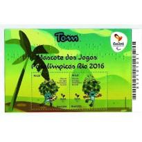 B188 - Mascote dos Jogos Paralimpicos - Rio 2016 - Tom - 2015 - MINT