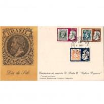 """FDC227 CPD - Centenário da emissão de D. Pedro II """"Cabeça Pequena"""" - 1981"""
