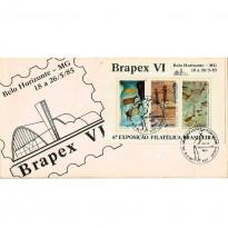 FDC362 - Brapex VI - 6º Exposição Filatélica Brasileira - 1985