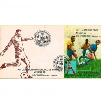 FDC366 - XIII Campeonato Mundial de Futebol - México 86 - 1985