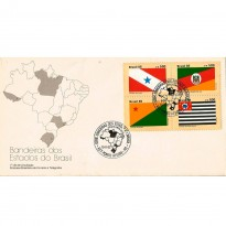 FDC384 - Bandeiras dos Estados do Brasil - 1985