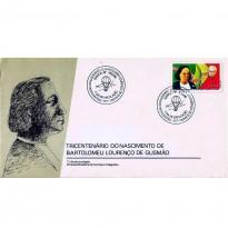 FDC387 - Tricentenário do nascimento de Bartolomeu Lourenço Gusmão - 1985