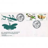 FDC425 - 50º Aniversário da Sociedade Brasileira de Entomologia - 1987