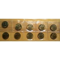 Lote com 10 Moedas - 20 Centavos - 1955 - Bronze/Alumino - FC - MVM213