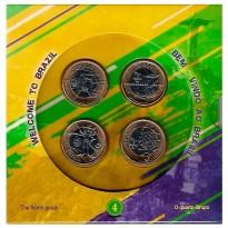 Folder com 4 Moedas Olímpicas - 4° Lançamento - Brasil - 2016