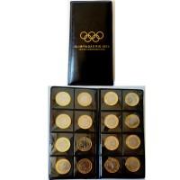 Álbum com as 16 Moedas Olímpicas - Rio 2016