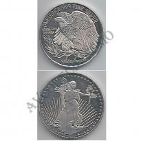 MOY008 - Onça Troy - Representação Moeda Americana - Águia - USA