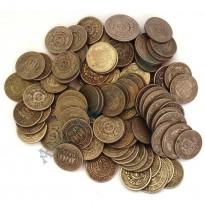 Lote com 100 Moedas - Metal Níquel - Império - moedas de 100 Réis e 200 Réis - Várias datas - Mais de 1Kg
