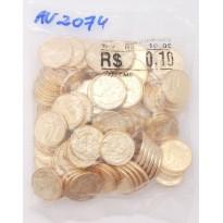 Sachê com 100 moedas - 10 centavos - Brasil - 2016