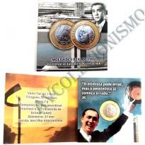 Fôlder com moeda de 1 Real - Centenário Juscelino Kubitschek - JK - 2002