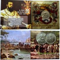 Fôlder com moeda de 2000 Reis  - Prata - Serie Vicentina - 1932  - MBC