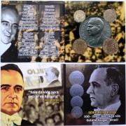 Folder com série de Reis, 100-200-300-400 - Cupro-Níquel - Getúlio Vargas - 1938 - FC