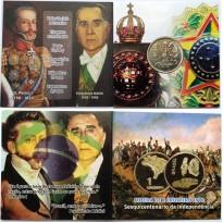 Fôlder com moeda de 1 Cruzeiros - Sesquicentenário da Independência - 1972