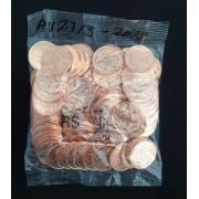 Sachê com 100 moedas - 05 centavos - Brasil - 2019