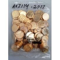 Sachê com 100 moedas - 10 centavos - Brasil - 2018