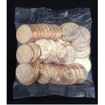 Sachê com 50 moedas - 25 centavos - Brasil - 2018