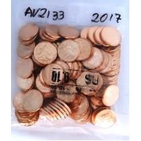 Sachê com 100 moedas - 10 centavos - Brasil - 2017
