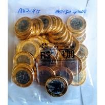 Sachê com 50 moedas - 1 Real - Brasil - 2019 - 25 Anos do REAL - Beija-Flor