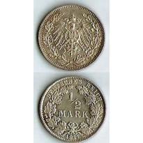 MES - ALE - Km017  - 1/2 Mark - Alemanha - 1917E