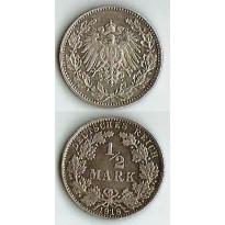 MES - ALE - Km017 - 1/2 Mark - Alemanha - 1918E