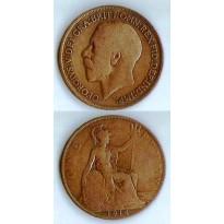 MES - GRB - Km0810 - 1 penny - Inglaterra - 1914