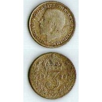MES - GRB - Km0813a - 3 pence - Inglaterra - 1922