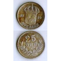 MES - SUE785 - 25 Ore - Suécia - 1919