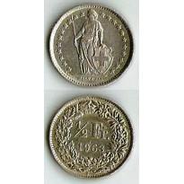 MES - SUI23 - 1/2 Franc - Suiça - 1963