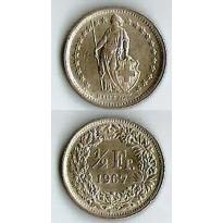 MES - SUI23 - 1/2 Franc - Suiça - 1967