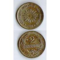 MES - URG - Km020 - 2 Centesimos - Uruguai - 1901A