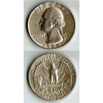 Moeda Estados Unidos da América - Km164 - Quarter Dólar - 1964 - Prata - 6,25 Gr - 24,30 mm - Excelente Peça