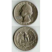 MES - USA - Km164 - Quarter Dólar - Estados Unidos da América - 1965