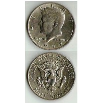 Moeda Estados Unidos da América - Km202b - Half Dólar - 1972