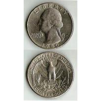 MES - USA - Km164a - Quarter Dólar - Estados Unidos da América - 1980D