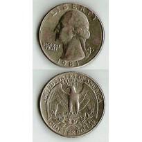 MES - USA - Km164a - Quarter Dólar - Estados Unidos da América - 1981D