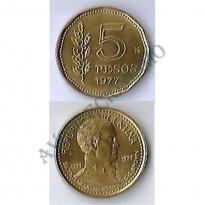 MES - ARG071 - 5 Pesos - Argentina - 1977