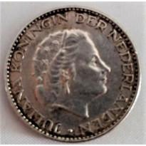 Moeda Holanda - KM184 - 1 Gulden - 1965