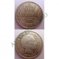 MES - URG - Km031 - 50 Centésimos - Uruguai - 1943 - Prata
