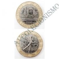 MES - FRA - Km0964.1 - 10 Francos - França - 1990