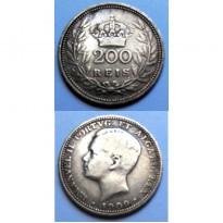 MES - PRT549 - 200 Reis - Portugal - 1909 - Prata