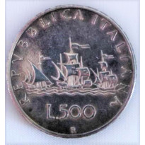 Moeda Itália - Km098 - 500 Liras - 1958 - Prata - 11.00 gr -  29.30 mm