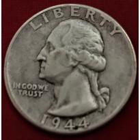 Moeda Estados Unidos da América - Km164 - Quarter Dólar - 1944 - Prata - 6,25 Gr - 24,30 mm - Excelente Peça