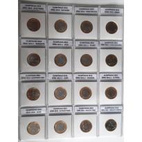 Conjunto - 16 moedas - OLIMPIADAS 2016 - Coin Holder - pasta protetora de acetato com etiquetas