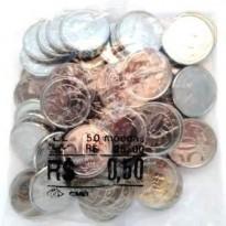 Sachê com 50 moedas - 50 centavos - 2016