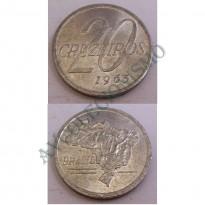 MVM 285 - Moeda 20 Cruzeiros - Alumínio - 1965 - FC