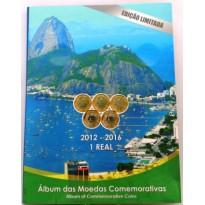 Fôlder para as  Moedas Comemorativas das Olimpíadas do Rio - 2012-2016